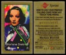 Marlene Dietrich by Laurence M. Gartel, Phone Card - Test Card' Art Bar.