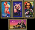 Marlene Dietrich Phone Cards Set of 4 - matching serial #s' Art Bar. THUMBNAIL