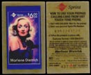 Marlene Dietrich by Tina Watts, Phone Card - Test Card' Art Bar.