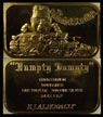 Watergate 'Humpty Dumpty' - Administration, gold plated' Art Bar by EJ Aleo & Associates. THUMBNAIL