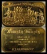 Watergate 'Humpty Dumpty' - Impeachment-Resignation, gold plated' Art Bar by EJ Aleo & Associates.