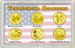 2009 Territorial Quarter Set - with Gold Plated Territorial Quarters