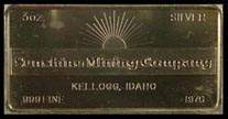 Sunshine Mining Co 1970' Art Bar by Foster Company. THUMBNAIL