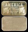 America 1776-1976 Bi-Centennial' Art Bar by Fortune Mint.