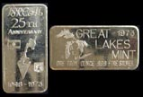Isreal 25th Anniversary - error' Art Bar by Great Lakes Mint. THUMBNAIL