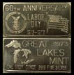 Labor Day 60th Anniversary' Art Bar by Great Lakes Mint. THUMBNAIL