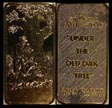 Under The Old Oak Tree, gold plated' Art Bar by Hamilton Mint. THUMBNAIL