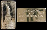 Statue of Liberty' Art Bar by Hamilton Mint.