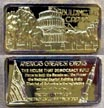 Building the Capitol, gold plated' Art Bar by Hamilton Mint.