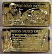 First Radio Broadcast, gold plated' Art Bar by Hamilton Mint. THUMBNAIL