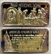 First National Bank, gold plated' Art Bar by Hamilton Mint. THUMBNAIL