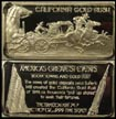California Gold Rush' Art Bar by Hamilton Mint. THUMBNAIL