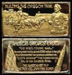 Blazing The Oregon Trail, gold plated' Art Bar by Hamilton Mint. THUMBNAIL