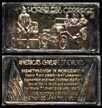 Horseless Carriage, gold plated' Art Bar by Hamilton Mint. THUMBNAIL