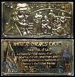 13th Amendment, gold plated' Art Bar by Hamilton Mint. THUMBNAIL