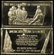 Declaration of Independence' Art Bar by Hamilton Mint. THUMBNAIL