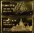 Connecticut, gold plated' Art Bar by Hamilton Mint.