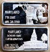 Maryland' Art Bar by Hamilton Mint.