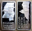 Mississippi' Art Bar by Hamilton Mint.