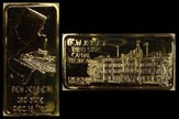 New Jersey, gold plated' Art Bar by Hamilton Mint.
