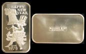 Happy New Year 1976' Art Bar by Madison Mint. THUMBNAIL