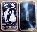 Valentine's Day 1976' Art Bar by Madison Mint. THUMBNAIL