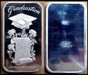 Graduation 1973' Art Bar by Madison Mint. THUMBNAIL