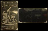 Happy Anniversary 1984' Art Bar by National Mint. THUMBNAIL
