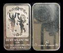 Be My Valentine 1985' Art Bar by National Mint. THUMBNAIL