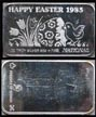Happy Easter 1985' Art Bar by National Mint. THUMBNAIL