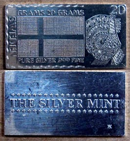 Swedish Flag' Art Bar by Silver Mint.