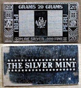 Peruvian Flag' Art Bar by Silver Mint.