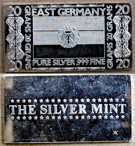 East German Flag' Art Bar by Silver Mint.