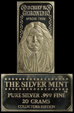 Chief Geronimo' Art Bar by Silver Mint.
