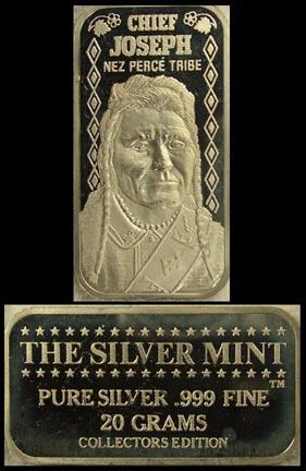Chief Joseph' Art Bar by Silver Mint.