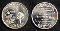 South Carolina Quarter Replica' Art Bar.