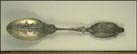 American Flag, George and Martha Washington, George Washington's House, Mt. Vernon, Virginia Souvenir Spoon THUMBNAIL