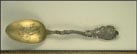 Lone Star, cotton, Long Horn, Cowboy, Beaumont, Texas Souvenir Spoon THUMBNAIL