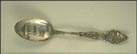 Garfield Memorial, State Seal, State Capitol, Cleveland, Ohio Souvenir Spoon THUMBNAIL
