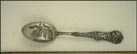 Court House, State Seal, Corn, Fort Wayne, Indiana Souvenir Spoon THUMBNAIL