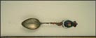 International Bridge, St. Croix River, St. Stephen, N.B., Calais, Maine Souvenir Spoon THUMBNAIL