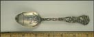 Illinois State House, State Seal, Lincoln Statue, Fort Dearborn Massacre 1812... Souvenir Spoon