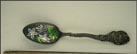 Enameled Flowers, State Seal, Stratton, Colorado Souvenir Spoon