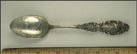 Entrance to the Subway, Bunker Hill 221 feet, Washington Elm Cambridge... Souvenir Spoon THUMBNAIL