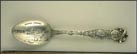 Harbor, Water Tower, Chief Pontiac, Founded 1701 by Gadillas... Souvenir Spoon