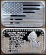 American Flag - Pledge Of Allegiance' Art Bar by Silver Towne. THUMBNAIL