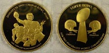 Super Bowl III - gold plated' Art Bar. THUMBNAIL