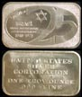 Israel 25th Anniversary' Art Bar by United States Silver Corp.. THUMBNAIL