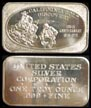 California Gold Discovery' Art Bar by United States Silver Corp.. THUMBNAIL