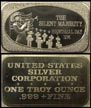 Silent Majority' Art Bar by United States Silver Corp..
